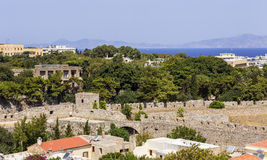 Fortifications of Rhodes Royalty Free Stock Images