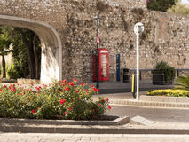 Fortifications on the Rock of Gibraltar at the entrance to the Mediterranean Sea Royalty Free Stock Photography