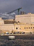 Fortifications round the Grand Harbour on the island of Malta Stock Images