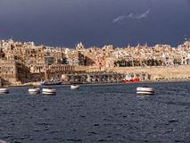 Fortifications round the Grand Harbour on the island of Malta Stock Photography