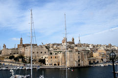 Fortifications round the Grand Harbour on the island of Malta Royalty Free Stock Image