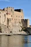 Royal castle of Collioure in France Royalty Free Stock Image