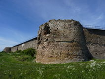 Fortifications of Shlisselburg. Fortress nearby Saint-Petersburg, Russia royalty free stock photos