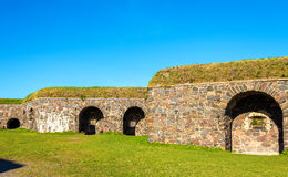 Fortifications in Suomenlinna fortress Stock Photo