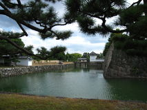 Fortifications of the Traditional Japanese Castle in Kyoto Royalty Free Stock Image