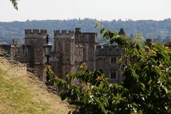 Fortifications at Windsor Castle stock photo