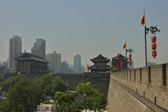 The Fortifications of Xian, China Stock Image