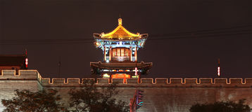 Fortifications of Xian (Sian, Xi'an) an ancient capital of China Royalty Free Stock Photography