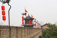 Fortifications of Xian (Sian, Xi'an) an ancient capital of China Stock Photos