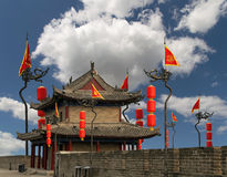 Fortifications of Xian (Sian, Xi'an) an ancient capital of China Royalty Free Stock Images