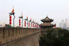 Fortifications of Xian (Sian, Xi'an) an ancient capital of China Royalty Free Stock Image