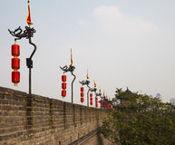 Fortifications of Xian (Sian, Xi'an) an ancient capital of China Royalty Free Stock Photos