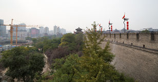 Fortifications of Xian (Sian, Xi'an) an ancient capital of China Stock Photography