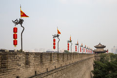 Fortifications of Xian (Sian, Xi'an) an ancient capital of China Stock Photo