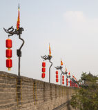 Fortifications of Xian (Sian, Xi'an) an ancient capital of China Stock Images
