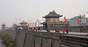 Fortifications of Xian (Sian, Xi'an) an ancient capital of China Stock Image