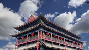 Fortifications of Xian Sian, Xi`an an ancient capital of China stock video