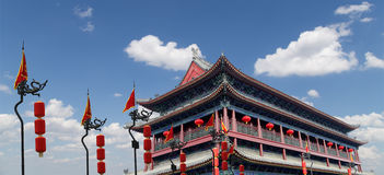Fortifications of Xian (Sian, Xi'an), China Stock Image