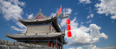 Fortifications of Xian (Sian, Xi'an), China Royalty Free Stock Photos