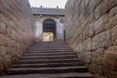 Fortificazione ad architettura il Karnataka di chitradurga Fotografie Stock Libere da Diritti