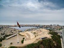 Fortificazione alla baia di Luanda, Luanda, Angola Fotografie Stock Libere da Diritti