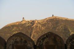 Fortificazione ambrata in India immagini stock libere da diritti
