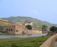 Fortificazione ambrata, India. Fotografia Stock