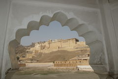 Fortificazione ambrata a Jaipur Immagine Stock Libera da Diritti