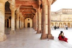 Fortificazione ambrata a Jaipur Fotografie Stock Libere da Diritti
