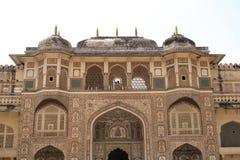 Fortificazione ambrata Jaipur Fotografie Stock Libere da Diritti