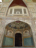 Fortificazione ambrata - Jaipur - India Immagine Stock