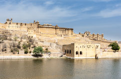 Fortificazione ambrata, Jaipur, India Fotografia Stock Libera da Diritti