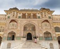 Fortificazione ambrata, Jaipur, India Fotografie Stock