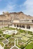 Fortificazione ambrata, Jaipur, India Immagini Stock