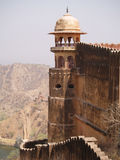 Fortificazione ambrata, Jaipur, India Fotografia Stock