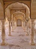 Fortificazione ambrata, Jaipur, Ragiastan Fotografia Stock Libera da Diritti