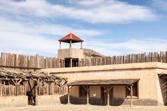 Fortificazione americana di legno Immagini Stock