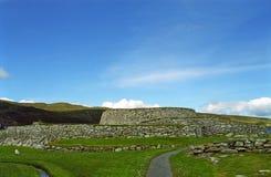 Fortificazione antica di Clickimin Broch, Lerwick, Shetland Immagini Stock