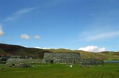 Fortificazione antica di Clickimin Broch, Lerwick, Shetland Fotografia Stock Libera da Diritti