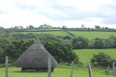Fortificazione antica di Lingua gallese fotografia stock