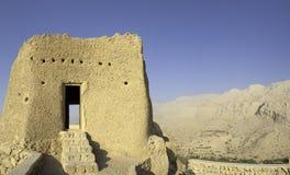Fortificazione araba negli emirati dell'Arabo del Ras al-Khaimah Fotografie Stock
