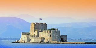 Fortificazione Bourtzi - Nauplio, Grecia Fotografia Stock