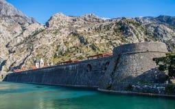 Fortificazione Cattaro del muro di cinta Immagini Stock