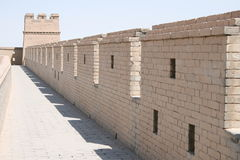 Fortificazione cinese antica della Grande Muraglia di Jia Yu Guan Immagine Stock