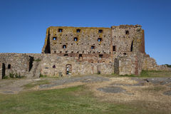 Fortificazione Danimarca di Hammershus. Fotografie Stock