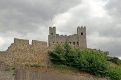 Fortificazione del castello di Rochester Fotografia Stock