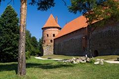 Fortificazione del castello di Trakai Fotografia Stock Libera da Diritti
