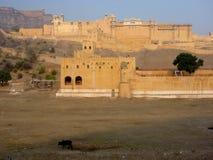 Fortificazione del palazzo di Jaipur, India Fotografie Stock Libere da Diritti