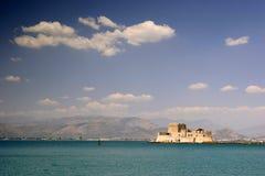 Fortificazione del porto di Nafplion, Grecia Immagini Stock Libere da Diritti