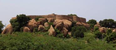 Fortificazione dell'anello di tirumayam Fotografia Stock Libera da Diritti